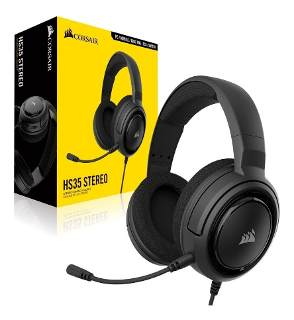 AURICULAR C/MIC CORSAIR HS35 GAMING CARBON
