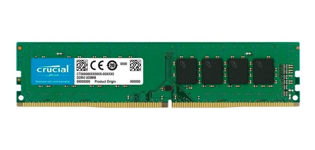 DDR4 8 GB. 2666 MHz CRUCIAL