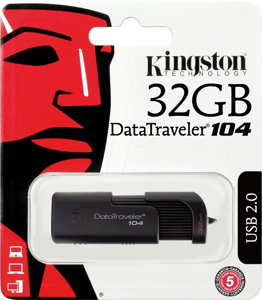 PEN DRIVE 32 GB. KINGSTON DT104