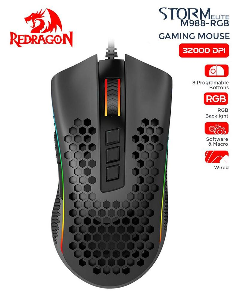 MOUSE REDRAGON M988-RGB STORM ELITE