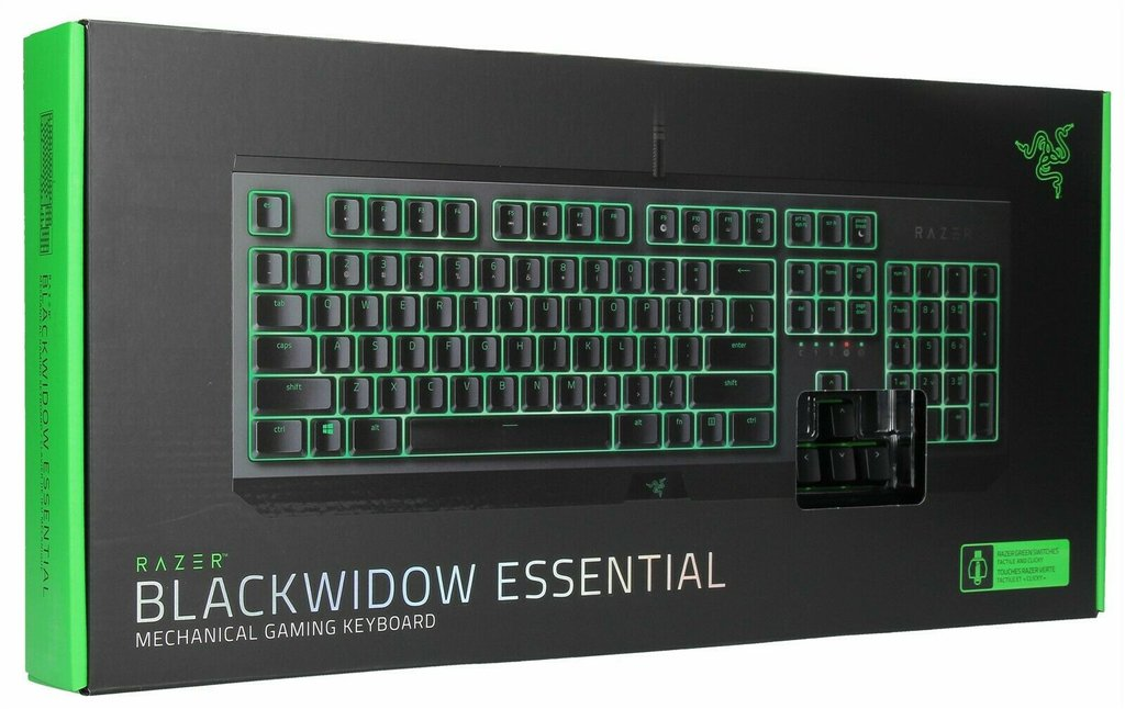 TECLADO RAZER BLACKWIDOW ESSENTIAL GREEN SWITCH