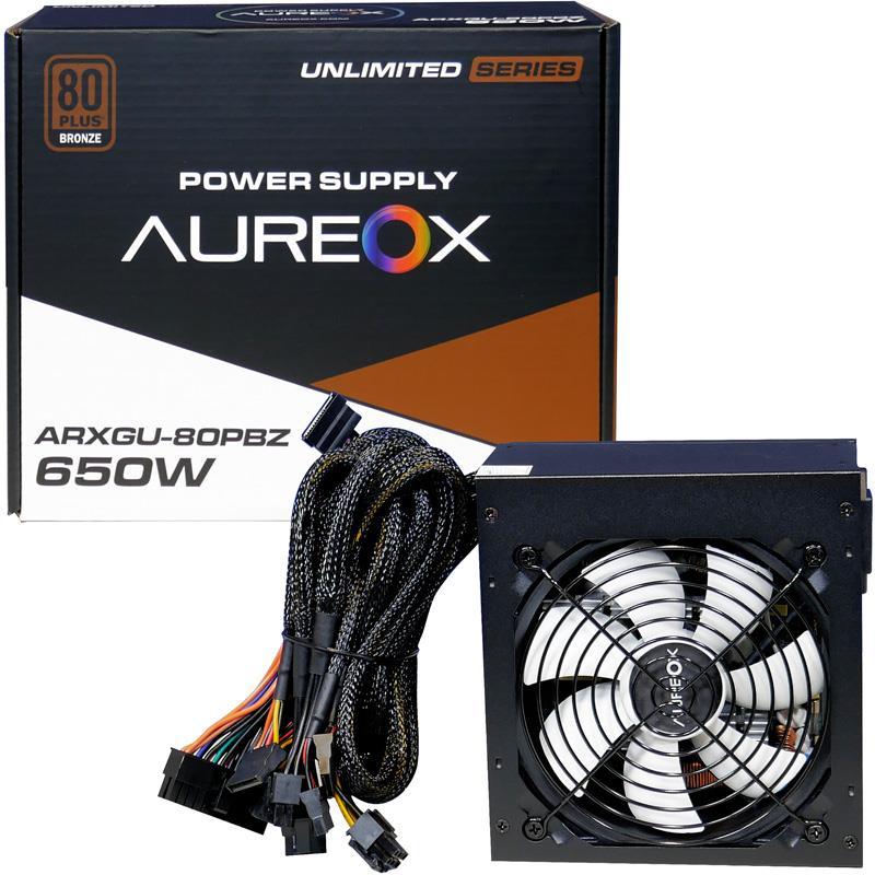 FUENTE ATX 650W AUREOX ARXGU-650W 80 PLUS BRONZE