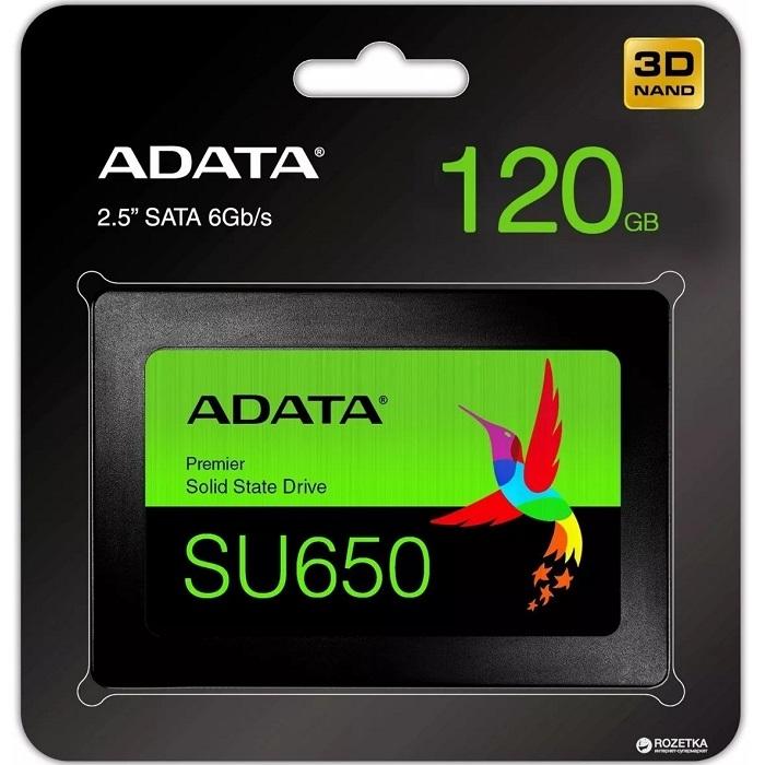 SSD 120 GB. ADATA SATA3 SU650
