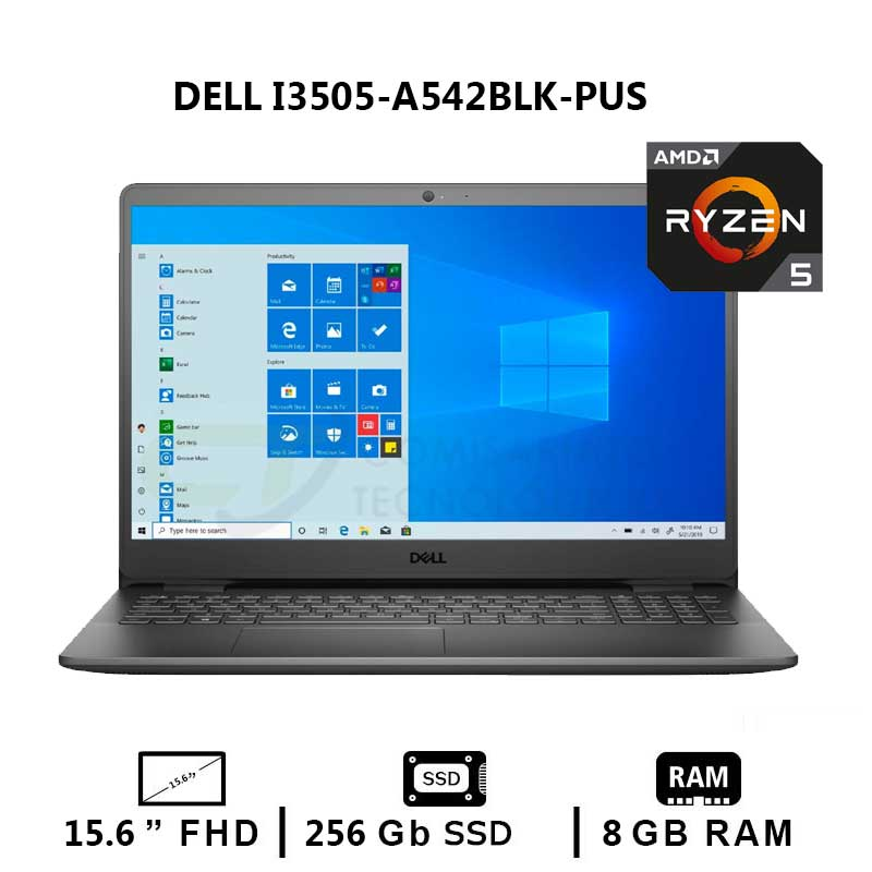 NOTEBOOK DELL INSPIRON 15-3505-A542BLK-PUS