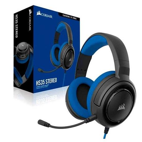 AURICULAR C/MIC CORSAIR HS35 GAMING BLUE