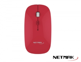 MOUSE WIRELESS NETMAK NM-W40R ROJO