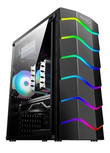 GABINETE NETMAK NM-X100 C/FAN RGB