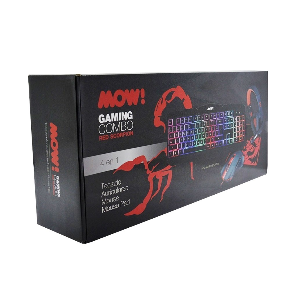 KIT GAMER MOW RED SCORPION 4 EN 1