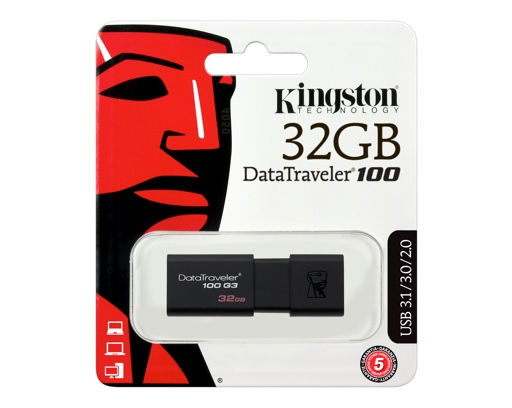 PEN DRIVE 32 GB. KINGSTON DT100G3