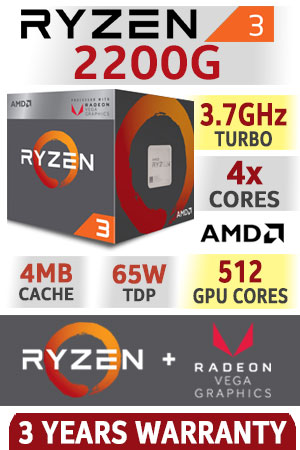 MICRO AMD RYZEN 3 2200G 3.5 GHz AM4 VEGA