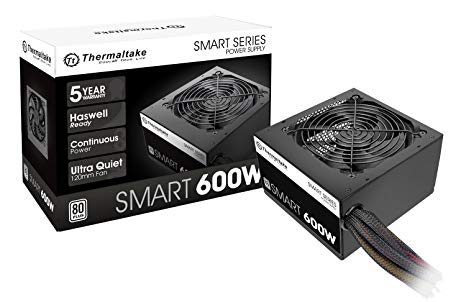 FUENTE ATX 600W THERMALTAKE SMART WHITE 80 PLUS