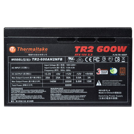 FUENTE ATX 600W THERMALTAKE TR2 600W