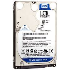HDD 1 TB. 5400 RPM SATA NOTEBOOK WESTERN DIGITAL