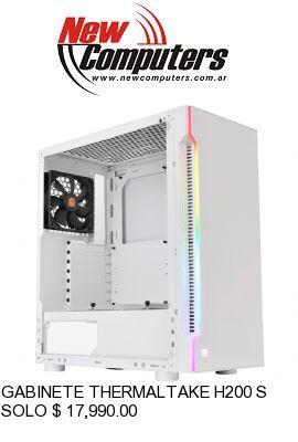 GABINETE THERMALTAKE H200 SNOW RGB TEMPERED GLASS: