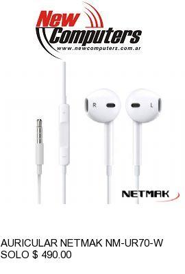 AURICULAR NETMAK NM-UR70-W: