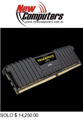 DDR4 16 GB. 3000 CORSAIR VENGEANCE LPX BLACK: