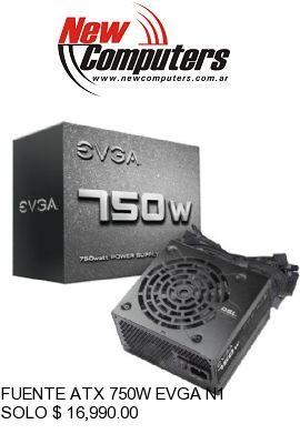 FUENTE ATX 750W EVGA N1: