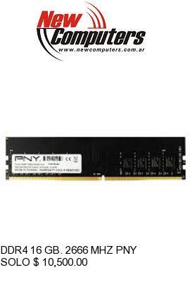 DDR4 16 GB. 2666 MHZ PNY: