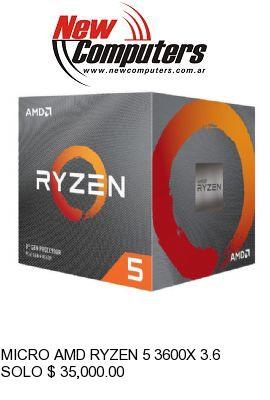MICRO AMD RYZEN 5 3600X 3.6 GHz AM4: