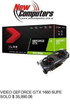 VIDEO GEFORCE GTX 1660 SUPER 6 GB. GDDR6 PNY: