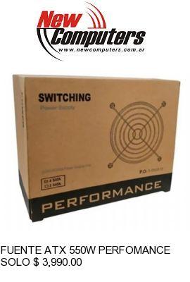 FUENTE ATX 550W PERFOMANCE BOX C/CABLE: