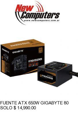 FUENTE ATX 650W GIGABYTE 80 PLUS BRONZE: