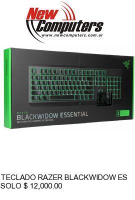 TECLADO RAZER BLACKWIDOW ESSENTIAL GREEN SWITCH:
