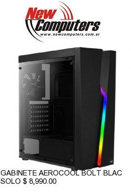 GABINETE AEROCOOL BOLT BLACK RGB: