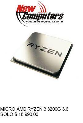 MICRO AMD RYZEN 3 3200G 3.6 GHz AM4 OEM: