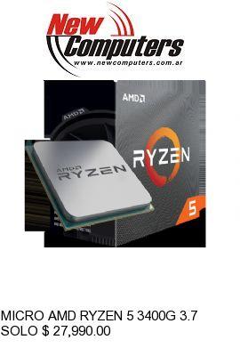 MICRO AMD RYZEN 5 3400G 3.7 GHz AM4: