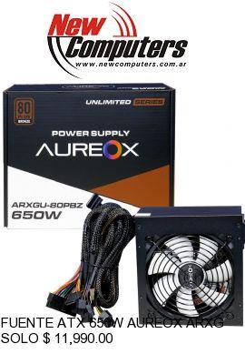 FUENTE ATX 650W AUREOX ARXGU-650W 80 PLUS BRONZE: