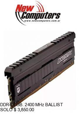 DDR4 4 GB. 2400 MHz BALLISTIX SPORT BULK: