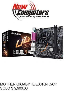 MOTHER GIGABYTE E6010N C/CPU E1-6010: