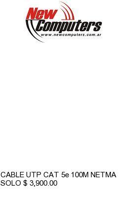 CABLE UTP CAT 5e 100M NETMAK EXTERIOR: