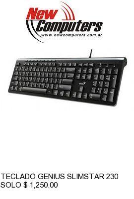 TECLADO GENIUS SLIMSTAR 230 BLACK:
