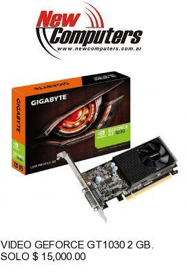 VIDEO GEFORCE GT1030 2 GB. GIGABYTE: