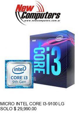MICRO INTEL CORE I3-9100 LGA1151: