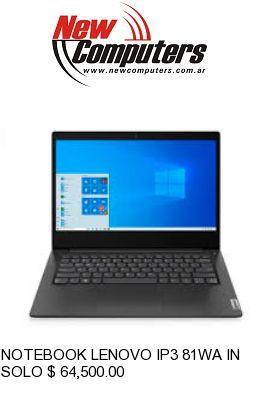 NOTEBOOK LENOVO IP3 81WA INTEL 6405U: