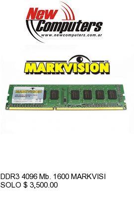 DDR3 4096 Mb. 1600 MARKVISION: