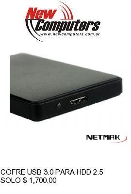 COFRE USB 3.0 PARA HDD 2.5 SATA NETMAK NM-CARRY3:
