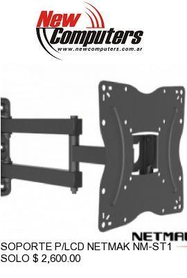 SOPORTE P/LCD NETMAK NM-ST14 DOBLE BRAZO: