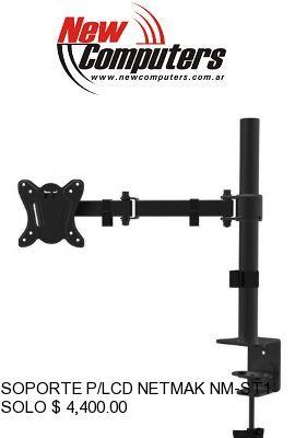 SOPORTE P/LCD NETMAK NM-ST17 DOBLE BRAZO:
