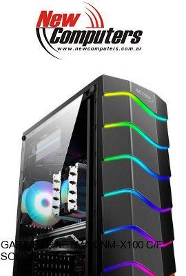 GABINETE NETMAK NM-X100 C/FAN RGB: