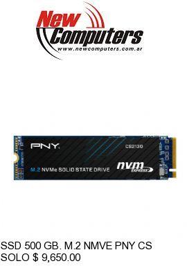 SSD 500 GB. M.2 NMVE PNY CS2130: