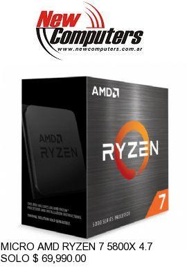 MICRO AMD RYZEN 7 5800X 4.7 GHZ AM4 (SIN COOLER):