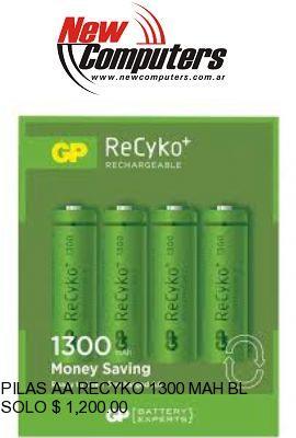 PILAS AA RECYKO 1300 MAH BL X4 RECARGABLE: