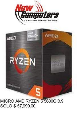 MICRO AMD RYZEN 5 5600G 3.9 GHz AM4: