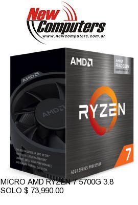MICRO AMD RYZEN 7 5700G 3.8 GHz AM4: