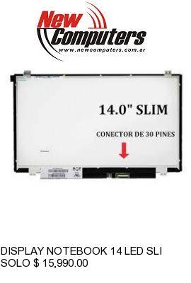 DISPLAY NOTEBOOK 14 LED SLIM 30 PINES: