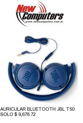 AURICULAR BLUETOOTH JBL T500 AZUL: